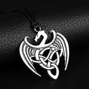 Viking Jewelry Celtic Dragon Pendant Necklace